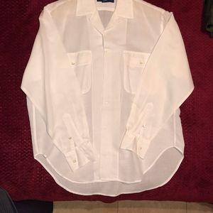 White Ralph Lauren Long Sleeve Blouse